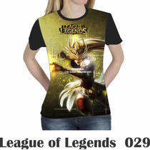 Camiseta Blusa Games League Of Legends Feminina Lol 029