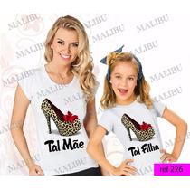 Tal Mãe Tal Filha Baby Look Kit 2 Uni Sapato Onça Minnie