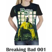Camiseta Blusa Séries Personalizada Breaking Bad Feminina
