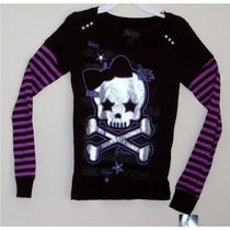 Blusa Manga Comprida Skull Abbey Dawn By Avril Lavigne