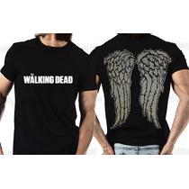 Camiseta The Walking Dead Daryl Dixon Asas Algodão