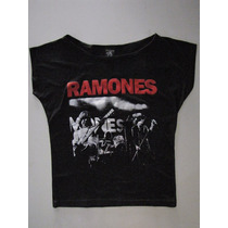 Blusinha Bata Cropped Ramones - Profanus