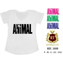 Camiseta Animal Fitness Caveiras, Rock Roll, One Direction