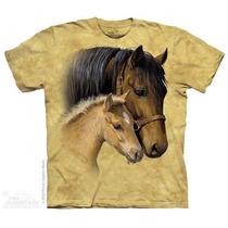 Camiseta Face Cavalo E Potro Infantil/feminina-the Mountain