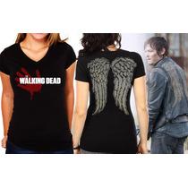 Camiseta Feminina The Walking Dead Daryl Dixon - Algodão