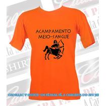 Camiseta Acampamento Meio Sangue - Tradicional Ou Baby Look