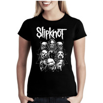 Camiseta Bandas Rock Slipknot Baby Look Feminina
