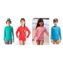 Camisa Com Proteção Solar Uv 50 Infantil Manga Longa