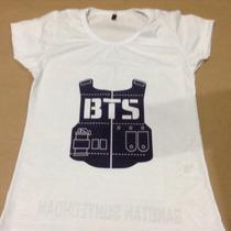 Camiseta Bts Kpop Bangtan Boys Boygroup K-pop