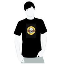Camisa Algodão - Guns N Roses Oficial Logo - Rock And Roll