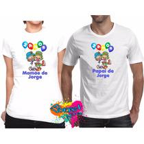Kit 2 Pçs Camisa Personalizada Qualquer Tema Para Festa A4