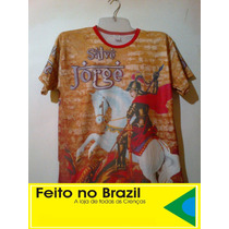 Camiseta & Baby Look São Jorge Salve Jorge