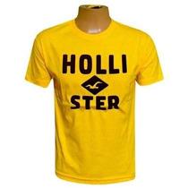 Camiseta Hollister Amarela Hco366