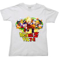 Camiseta Infantil Personalizada Nome Dragon Bal Z Gt Super 1