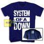 System Of A Down Camiseta System Of A Down Com Logo Costas