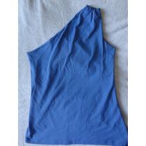 Blusa Azul Roial Um Ombro Só Tamanho Unico Ótimo Estado
