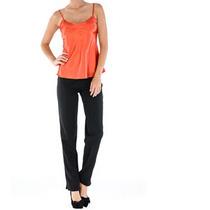 Camiseta Tangerina Em Cetim- Frete Grátis- Marca Belle & Bei