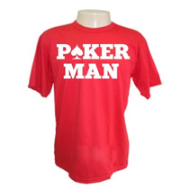 Camiseta Poker Man Divertidas Engraçadas Sátiras Banda Rock