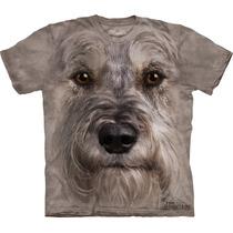 Camiseta Cão Cachorro Mini Schnauzer Face - The Mountain