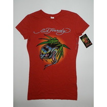 Camiseta Feminina Don Ed Hardy By Christian Audigier - Tam P
