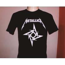 Camisas Rock Metallica - Frete Fixo - Tecido Algodão Fio 30