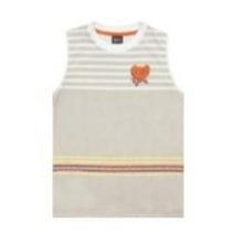 Camiseta Regata Cinza Listrada Tigor T Tigre Tam 4