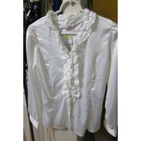 Blusa Tunica Bata Top Tecido Sedoso Branca Bl