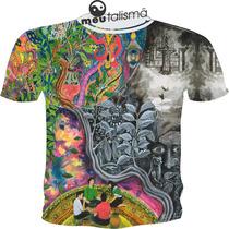 Camiseta Ou Baby Look Selva Psicodélicas