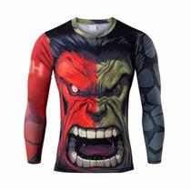Camiseta Rash Guard Hulk Fitness Jiu Jitsu Mma
