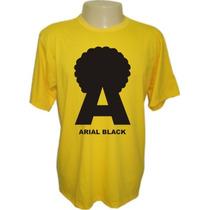 Camiseta Arial Blackdivertidas Engraçadas Sátiras Banda Rock