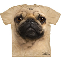Camiseta Cão Cachorro Pug Face Importada - The Mountain