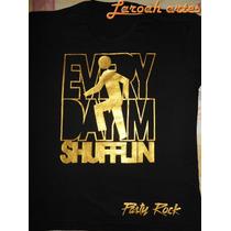 Camiseta Banda Lmfao Shufflin Dourada Preta - Lana Camisetas