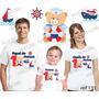 Lebrança De Aniversário Ursinho Marinheiro Camiseta 3 Un