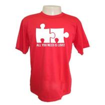 Camisetas Divertidas All Need Love Engraçadas Sátiras Bandas