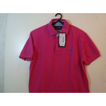 Camisa Polo Barata Original Aleatory Pink P - Cod115