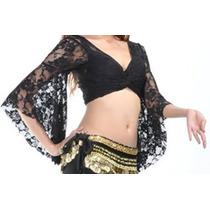 Bolero E Blusa Para Dança Do Ventre- Em Renda Com Elastano