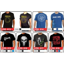 Camisas De Rock Nirvana Bon Jovi Ramones Guns N Roses