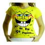 Camiseta Adulto Ou Infantil Bob Esponja Ai Seu Eu Te Pegoo