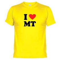 Camisetas Eu Amo Mt Mato Grosso 864