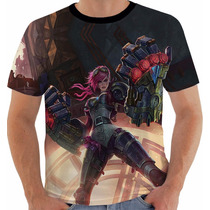 Camiseta League Of Legends - Vi - Lol 25