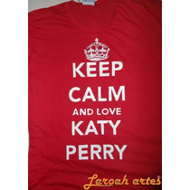 Katy Perry Camiseta Keep Calm Lana Camisetas