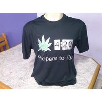 Camiseta Personalizada 4:20 Em Algodão Fio 30 Penteado