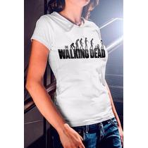 Camisa Estampa Feminina The Walking Dead Evolução Zumbi