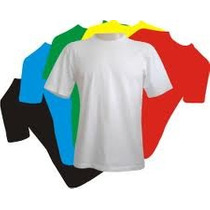 Camiseta Lisa 14 Cores-100% Poliester Fio30.1-atacado/varejo