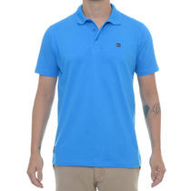 Camiseta Masculina Oakley Polo Essential Square Azul