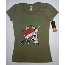 Camiseta Feminina Don Ed Hardy By Christian Audigier - Tam P