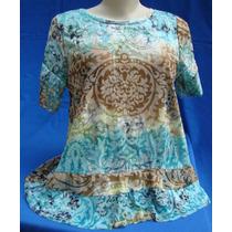 Lançamento Maravilhosas Blusas Malha Devorê Cores Variadas