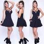 Vestido Sal E Pimenta Com Bojo - Lançamento Vt019