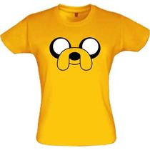 Camiseta Feminina Jake Hora De Aventura Baby Look Feminina