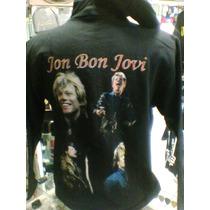 Moletom Flanelado Jon Bon Jovi Com Capuz Tamanho P